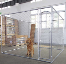 Metal tube or wrought iron or chain link outdoor dog kennel/house/cage/panel/gate