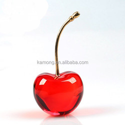 fresh red color cherry Crystal fruit model items