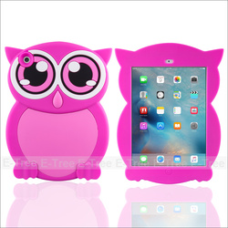 Owl Cartoon Silicon Case Back Cover For ipad mini 2 3 4