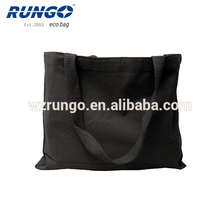 Black color cotton canvas tote bag with many colors and solid handles