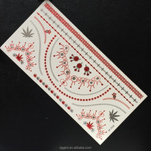 snowflake silver gold holographic bronze metallic bling temporary tattoo sticker
