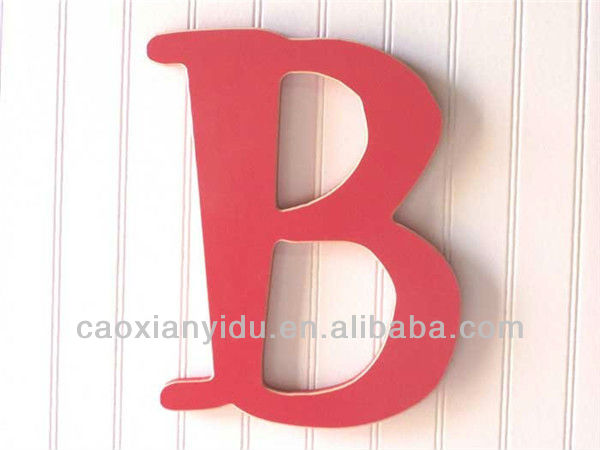 DIY Wall Decor Colorful Letter Wooden Alphabet Letters 0-9 Numbers Large Wooden Numbers