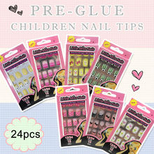 colorful lovely kids press on nails