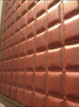 kinds of leather 3d wall panel wallpaper -certificated factory by SGS