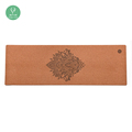 Private Label Custom Printed Natural Rubber Cork Yoga Mat