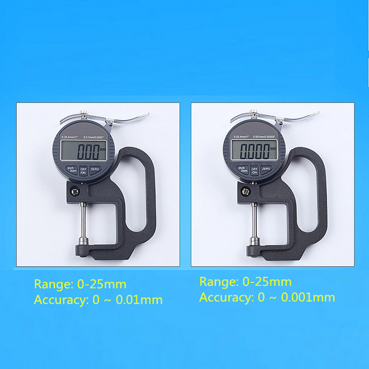 0.001mm 0-12.7mm thickness gauge for foam/paper/leather