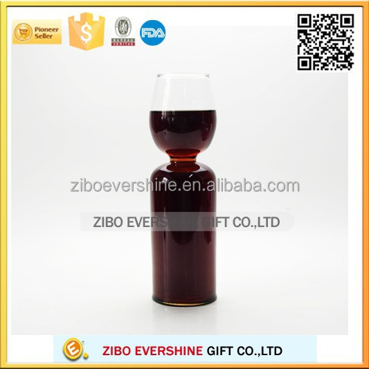 2015 best selling Unique designed Novelty Crystal Wine Glass, glass cup