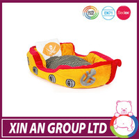 2014 hot sale plush boat pet dog bed