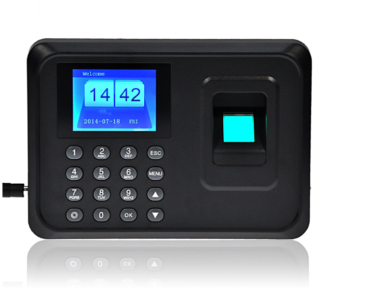 1000Users Biometric Fingerprint Time Clock Office Attendance Recorder Timing Employee Machine Reader