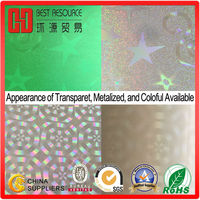 Holographic Film Roll for Gift Bag Packing Laser Film wrap