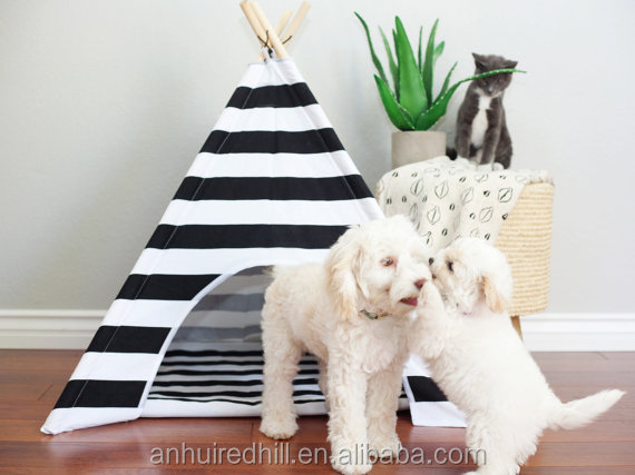 R1933H Good quality cheap oop pet dog cat teepee tent bed for sale