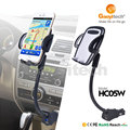 LED Indicator Light Charger 5V 2.4A Car USB Charger With 4-6.3 Inch Screen Holder