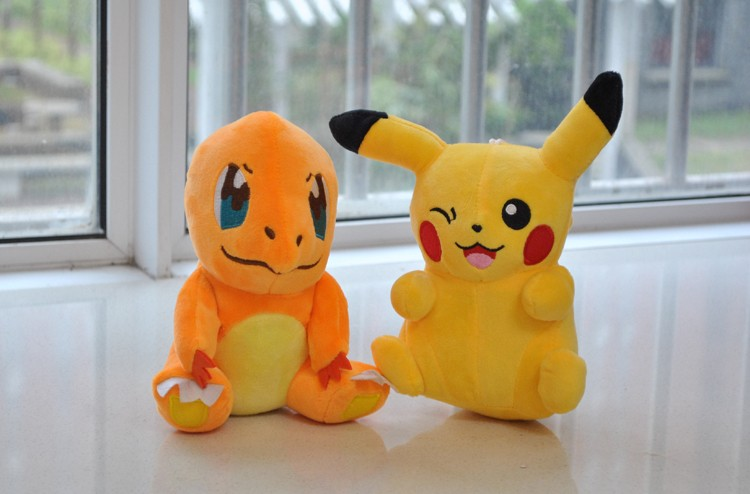 wholesale 15cm soft plush stuffed toy,pokemon plush toy for kids