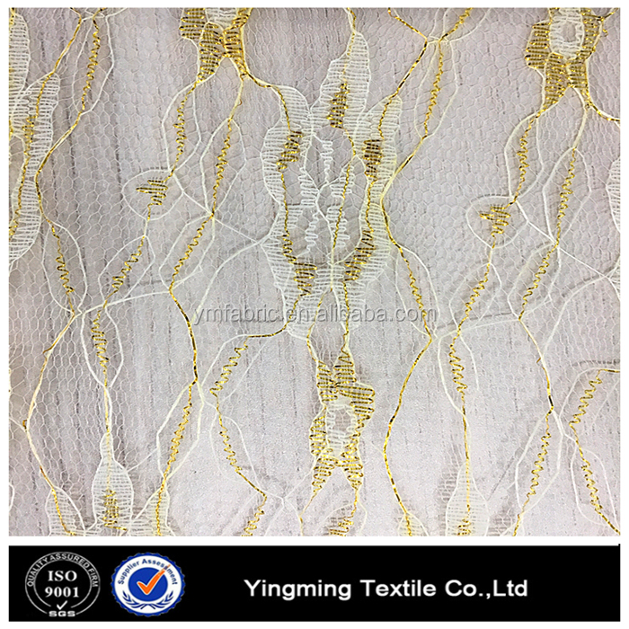 embroidered lace fabric