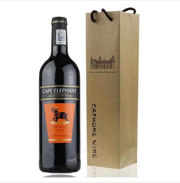 promotional high quality decorative paper wine bottle bags