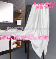 towel factory 70 x 140cm x 520g/pc 32S/2 yarn count 5 star hotel white bath towel