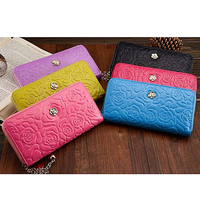 H166 shopping online beauty product trendy leather zipper women purse