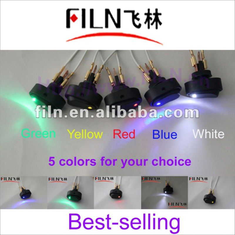 New style,12VDC,,50pcs/lot ASW-20D, 5 colors LED thermostat switch for cars