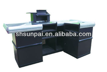 SUNPAI modern cash wrap counter design for retail store #044