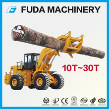 Large timber wood log wheel loader with clamp