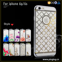 New stylish tpu diamante case crystal stone mobile cover for iphone 6s