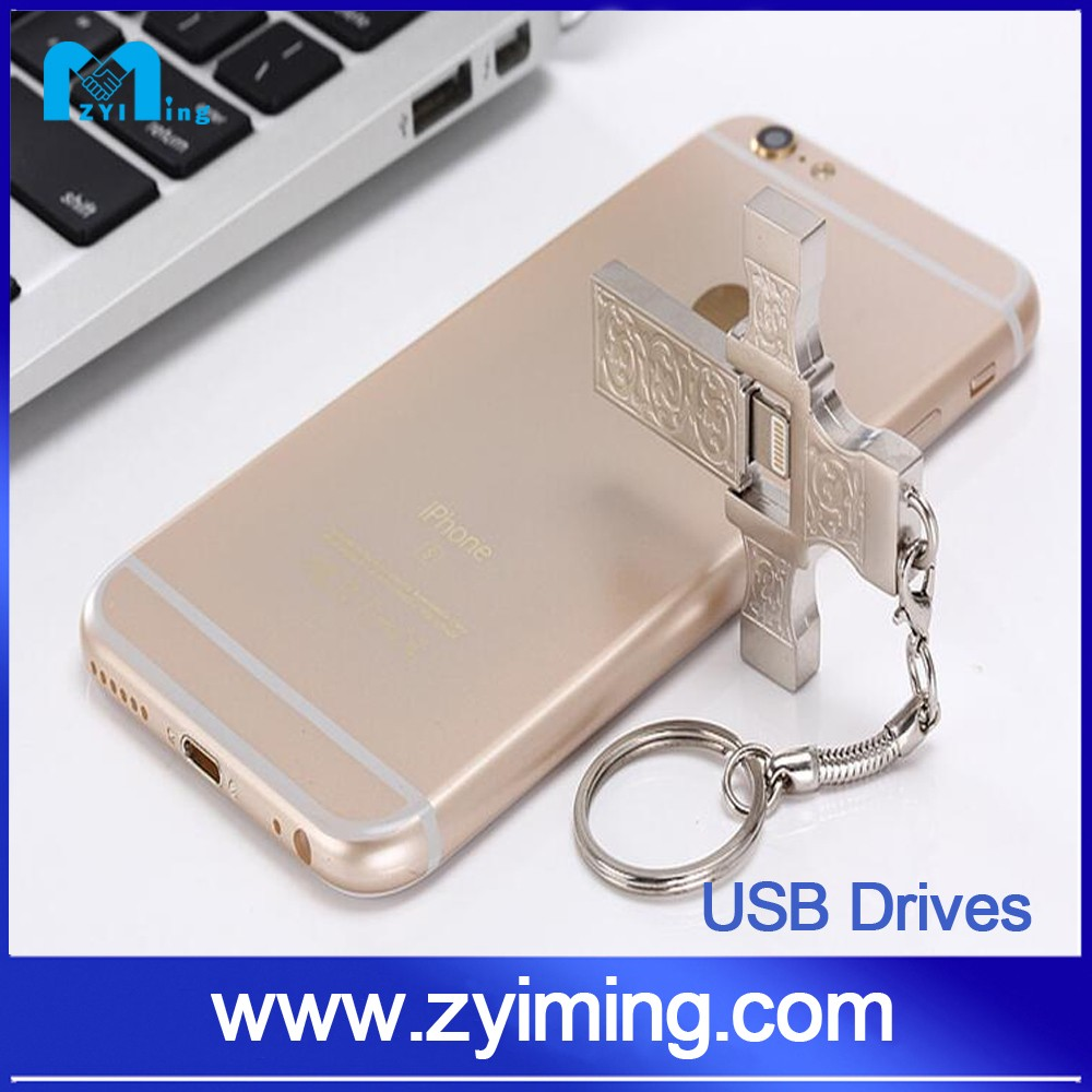 Zyiming factory wholesale otg pendrive 8gb/16/32/64/128gb OTG usb flash drive for Samsung iOS PC