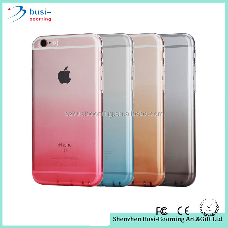 2016 Trending Color Changing Transparent Soft Plastic Pc Phone Case For Iphone 6 Plus Case 2016