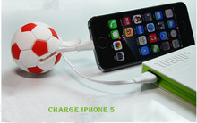 fashional basketball cable micro usb/lightn usb for charge and data trismission