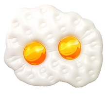 Inflatable fired egg pool float, inflatable fried egg mattress