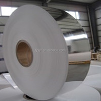 tobacco packet glossy silver aluminum foil coated paper jumbo roll