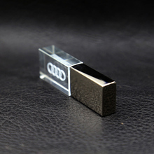 USB Flash Drive 8GB 16GB 32GB Car logo 2.0 Drive Stick LED Light