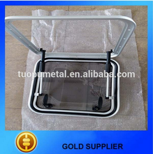 Hot sale aluminium marine deck hatch Yacht Square deck hatches with wheel support bar