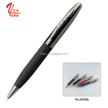 Low price ball pen roller pen promotional stationery products fat pen with rubber grip