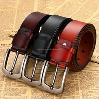 New Promotion Man pin buckle restoring ancient pu leather belt