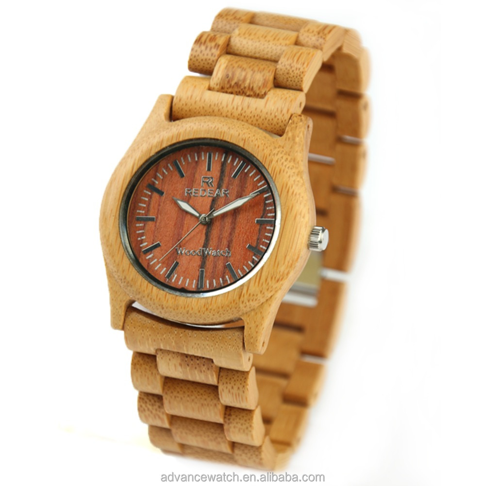 Factory 2016 Wholesale Fashion Wood bamboo Watch, Custom Logo Wrist Watch, Nato Strap with wood watch for men and women
