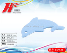 dolphins shape disposable compressed bath sponge