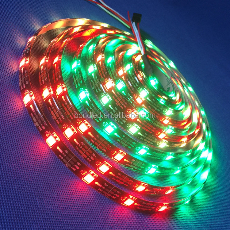magic digital rgb dream color led strip 24 volt 5050 5m/roll light