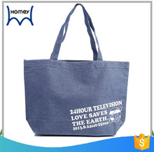 Large capacity printed logo denim travel canvas document bags weekender