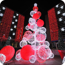 Christmas decorations 2016 outdoor giant pre lit led motif ball christmas tree