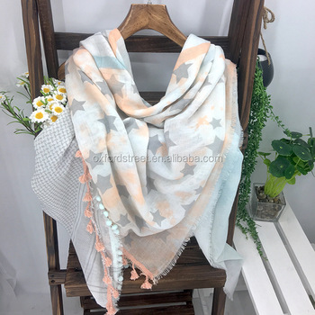 Scarfs 2017 Women Summer Fashion Latest Pom Pom Scarf Lady Scarf