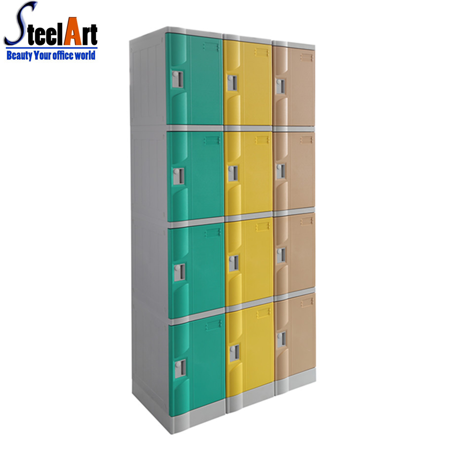 Public changing room clothes storage plastic abs cabinet
