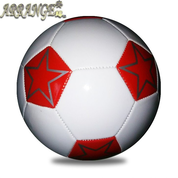size three small soccer balls JFFB113 white red leather PVC cheap football