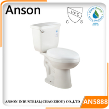 Bathroom water closet commode siphonic Elongated Bowl ADA toilet economic CUPC toilet