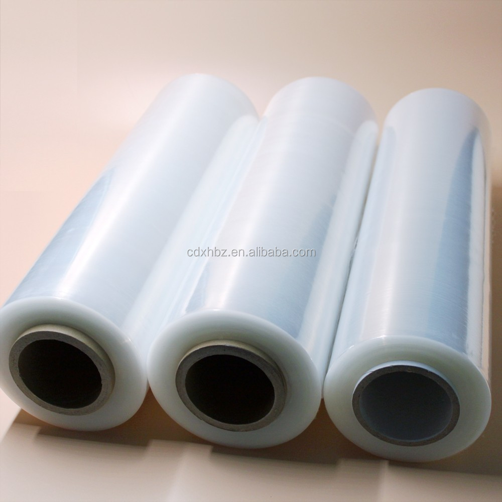 penetrat resistance lldpe handle rolls stretch film packing film