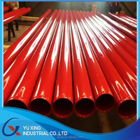 color powder coated galvanized steel pipe and black pipe with oil and color painting steel pipe