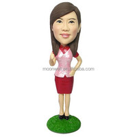 Custom bobblehead customized from your photo--a handmade gift for valentine's day--Beautiful lady, thanksgiving, birthday