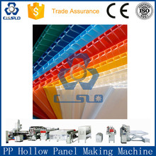 COLORFUL MULTILAYER PP HOLLOW BOARD PRODUCTION LINE, POLYPROPYLENE HOLLOW BOARD PROFILE PRODUCTION LINE