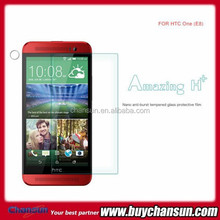 for HTC one E8 clear tempered glass screen protector