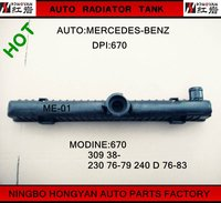 auto Plastic Radiator Tank for car MERCEDES BENZ (MODINE:309 68-),water tank