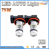 Newsun Wholesale Led Car Light 75w High Power Led Auto Lamp H4 H7 H8 H10 H11 9005 9006 P13W High Quality Fog Led